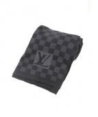 LOUIS VUITTON(ルイ・ヴィトン)の古着「マフラー」|グレー×ブラック
