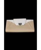 Salvatore Ferragamo(サルヴァトーレ フェラガモ)の古着「2つ折り長財布」|ベージュ×ホワイト