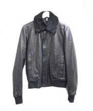 Dior HOMME(ディオールオム)の古着「レザージャケット」|ブラック