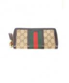 GUCCI(グッチ)の古着「ラウンドファスナー財布」|ブラウン