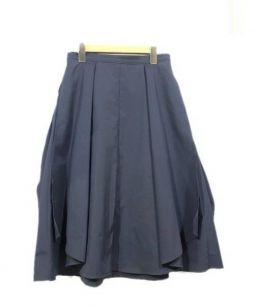 EPOCA(エポカ)の古着「テコットブロードフレアスカート」 ネイビー