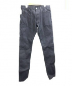 RAGS McCREGOR(ラグス マクレガー)の古着「リジットデニムパンツ」|ブラック