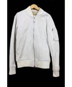 LHP(エルエイチピー)の古着「レザージャケット」|アイボリー