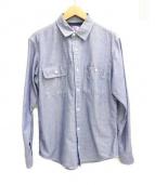 THE NORTHFACE PURPLELABEL(ザ・ノースフェイス パープルレーベル)の古着「シャンブレーシャツ」|スカイブルー