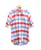THOM BROWNE(トムブラウン)の古着「チェックシャツ」|ブルー×ホワイト