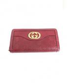 GUCCI(グッチ)の古着「ラウンドファスナー財布」|レッド