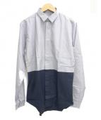 DIOR HOMME(ディオールオム)の古着「バイカラーシャツ」|ブルー×ネイビー