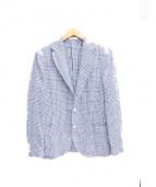 BOGLIOLI(ボリオリ)の古着「3Bツイルジャケット」|ホワイト×ブルー