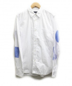 COMME des GARCONS HOMME(コムデギャルソンオム)の古着「エルボーパッチワークシャツ」|ホワイト