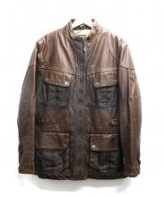 Timberland(ティンバーランド)の古着「ライナー付レザージャケット」|ブラウン