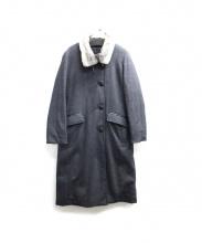 DAMA collection(ダーマ・コレクション)の古着「ファーカラーウールダウンコート」 グレー