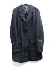 Y-3(ワイスリー)の古着「チェスターコート」|ブラック