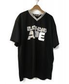 A BATHING APE(アベイシングエイプ)の古着「フットボールTシャツ」|ブラック