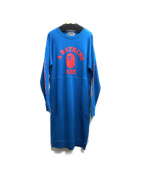 A BATHING APE(ア ベイシング エイプ)の古着「OLLEGE SWAROVSKI CREWNECK ONEP」 ブルー