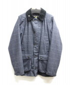 Babour(バブアー)の古着「SL BEDALE WOOL CHECK WAXED」|グレー