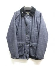 Babour(バブアー)の古着「SL BEDALE WOOL CHECK WAXED」 グレー