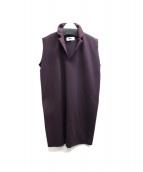 MM6(エムエムシックス)の古着「ノースリーブワンピース」 バーガンディー