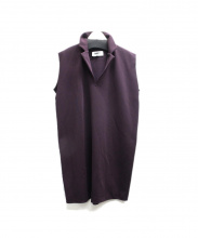 MM6(エムエムシックス)の古着「ノースリーブワンピース」|バーガンディー