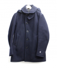 ORCIVAL(オーチバル)の古着「フード付コート」 ネイビー