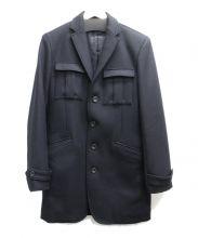 LOUNGE LIZARD(ラウンジリザード)の古着「メルトンコート」|ブラック