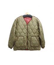 BURLAP OUTFITTER(バーラップアウトフィッター)の古着「リバーシブルキルティングジャケット」|レッド×ベージュ