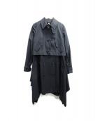 AMBELL(アンベル)の古着「変形トレンチコート」|ブラック