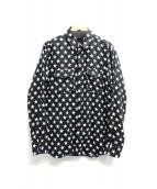 Saint Laurent Paris(サンローランパリ)の古着「スタープリントシャツ」|ブラック