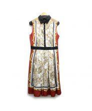 LOVELESS(ラブレス)の古着「スカーフドレス」 レッド×ホワイト