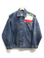HYDROGEN(ハイドロゲン)の古着「スカル刺繍デニムジャケット」
