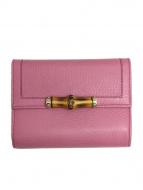 GUCCI(グッチ)の古着「3つ折り財布」|ピンク