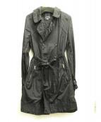 DIESEL(ディーゼル)の古着「ナイロントレンチコート」|ブラック