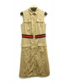 LOVELESS(ラブレス)の古着「ノースリーブシャツドレス」 ベージュ