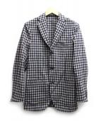 BOGLIOLI(ボリオリ)の古着「テーラードジャケット」|ベージュ×ネイビー