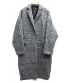 BARNYARDSTORM(バンヤードストーム)の古着「ウールコート」|ホワイト×ブラック