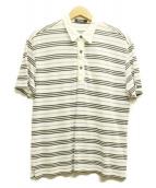 BURBERRY BLACK LABEL(バーバリーブラックレーベル)の古着「ポロシャツ」|ホワイト×ブルー