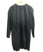 Paul Smith(ポールスミス)の古着「ノーカラースプリングコート」|ネイビー