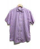 Paul Stuart(ポール スチュアート)の古着「半袖シャツ」|パープル