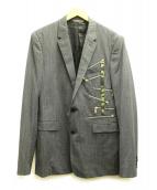 Dior Homme(ディオールオム)の古着「ジップデザインテーラードジャケット」|グレー