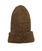 PRADA(プラダ)の古着「ラメ混ニット帽」|ブラウン