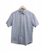 MACKINTOSH LONDON(マッキントッシュ ロンドン)の古着「半袖シャツ」|ホワイト×ネイビー