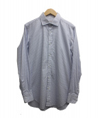 THOMAS MASON(トーマスメイソン)の古着「長袖シャツ」 ホワイト×ネイビー