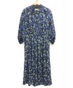 MACPHEE(マカフィ)の古着「ブラウスワンピース」|ネイビー