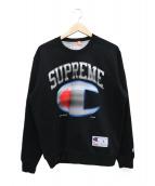 Supreme × Champion(シュプリーム×チャンピオン)の古着「クロームクルーネックスウェット」|ブラック