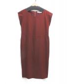 Rouge vif(ルージュヴィフ)の古着「ブラウスワンピース」|ブラウン