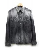 BACKLASH(バックラッシュ)の古着「デニムシャツ」 ブラック