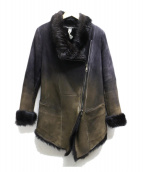 GIORGIO BRATO(ジョルジオブラット)の古着「ラムレザーファージャケット」|ブラック
