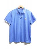 MONCLER(モンクレール)の古着「ワッペンポロシャツ」 ブルー