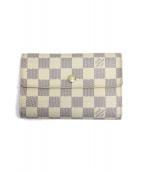 LOUIS VUITTON(ルイ・ヴィトン)の古着「3つ折り財布」|ホワイト
