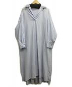 allureville(アルアバイル)の古着「スキッパーシャツワンピース」|ブルー
