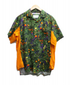 White Mountaineering(ホワイトマウンテニアリング)の古着「TROPICAL PATTERN PRINTED OPEN 」|マルチカラー